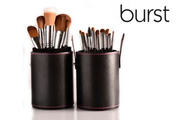 Makeup Brushes South Africa, Johannesburg, Gauteng, 15 Piece Synthetic Set incl Tube Holder (pink stitching) online makeup brushes