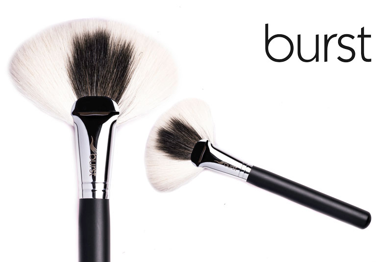 Makeup Brushes South Africa, Johannesburg, Gauteng, Large Fan makeup Brushes - Blend of White Special Goat and Black Goat makeup brushes online makeup brushes