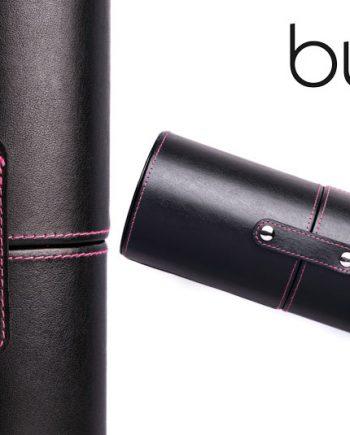Makeup Brushes South Africa, Johannesburg, Gauteng, Tube Brush Holder (Black & Pink Stitching) online makeup brushes