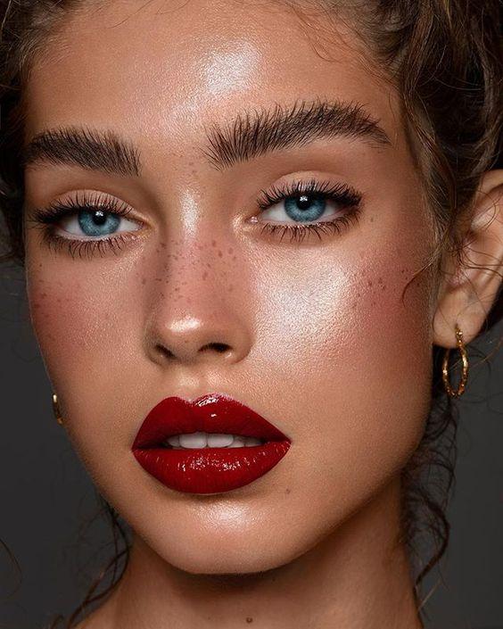 Deep, gorgeous lips